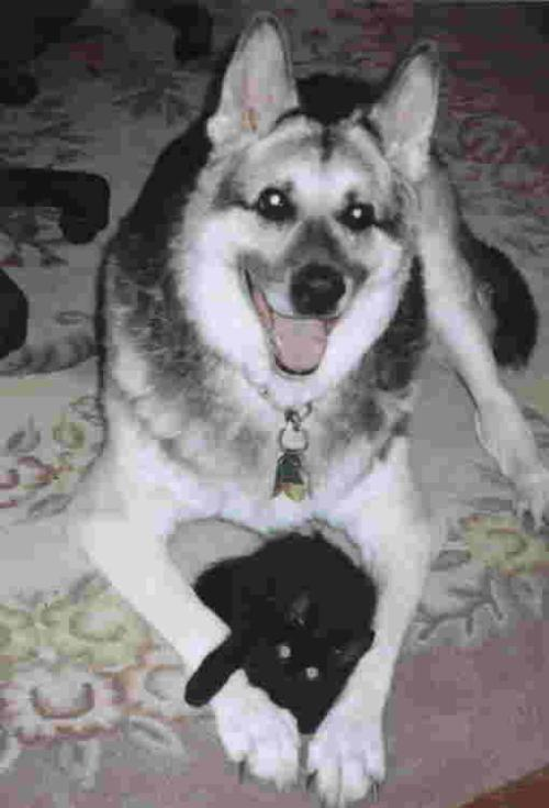 Shermie with Leo 5/1/01